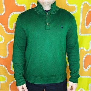 VTG Green Polo Sweater